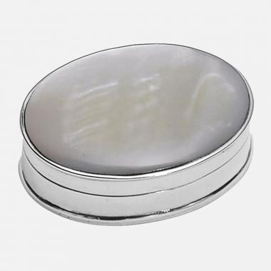 Carrs Silver Mother of Pearl Trinket Box