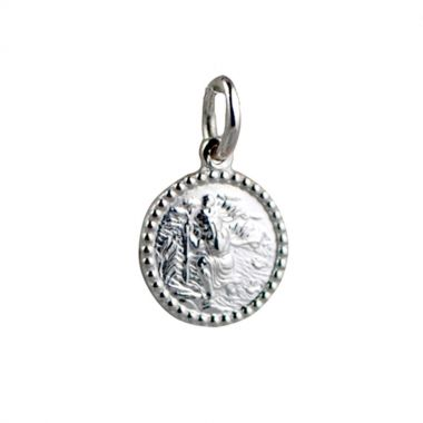 St Christopher Beaded Edge Charm/Pendant