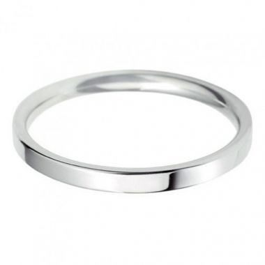 18ct Classic Flat Court 2.5mm Wedding Band