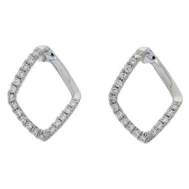 Diamond Shaped 18ct Earrings