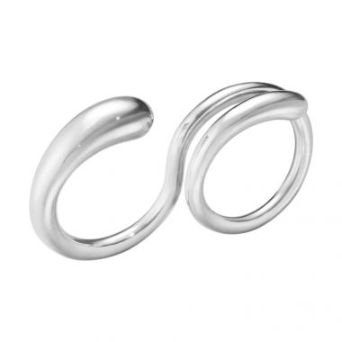 Georg Jensen Mercy Double Ring, Sterling Silver