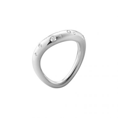Georg Jensen Offspring Ring, Silver with Diamonds