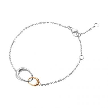 Georg Jensen Offspring Bracelet, Silver and 18ct Rose Gold