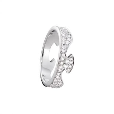 Georg Jensen Fusion End Ring with Diamonds, 18ct