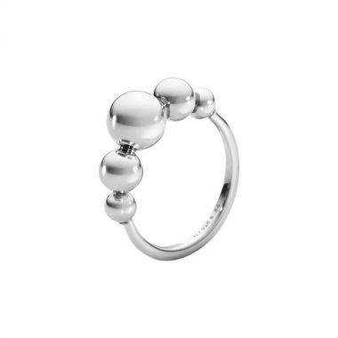 Georg Jensen Moonlight Grapes Ring, Oxidised Sterling Silver