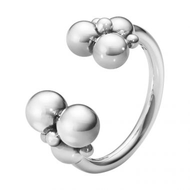 Georg Jensen Moonlight Grapes Ring, Oxidised Silver
