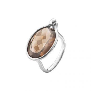 Georg Jensen Savannah Ring, Smokey Quartz, Large