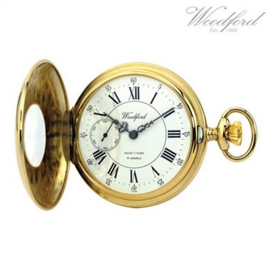 Woodford Half Hunter Gold Plated Pocket Watch