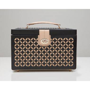 Wolf Chloe Medium Black Jewellery Box