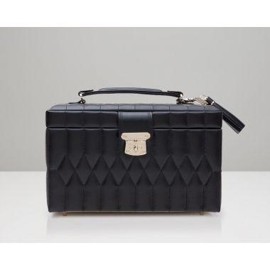 Wolf Caroline Medium Black Jewellery Box
