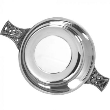 "3.5"" Pewter Glass Bottom Quaich"