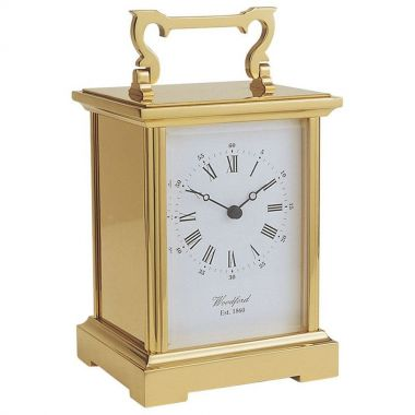 Woodford Solid Brass Quartz Anglaise Carriage Clock