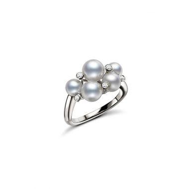 Mikimoto Bubble Ring - White Gold