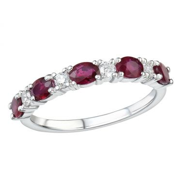 Ruby & Diamond Eternity 18ct Ring