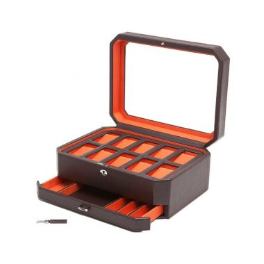 Wolf Windsor 10 Piece Watch Box with Drawer
