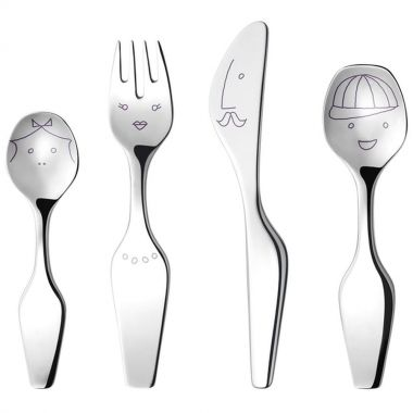 Georg Jensen Alfredo The Twist Family, 4Pcs, Cutlery Set