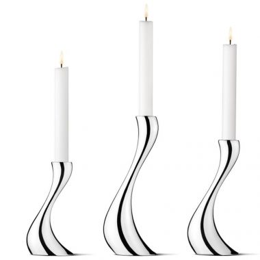 Georg Jensen Cobra Candelholder Set, Stainless Steel