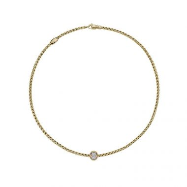 Fope EKA Tiny 0.25ct Yellow Necklet