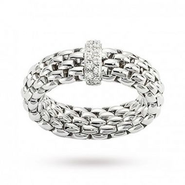 Fope Flex'It 18ct White Vendome Ring