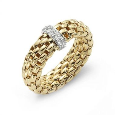 Fope Flex'It 18ct Yellow Vendome Ring