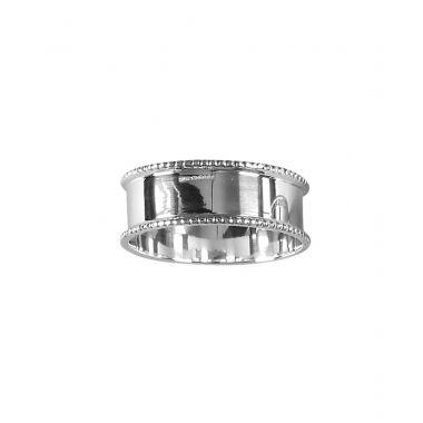 Silver Beaded Edge Napkin Ring
