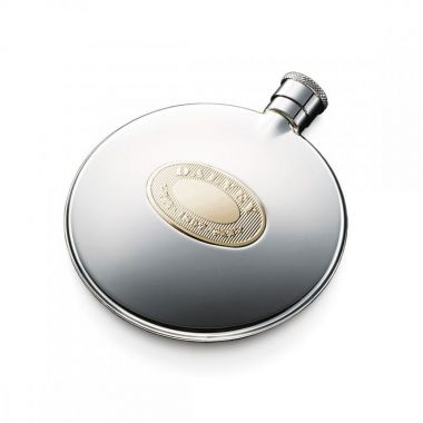 Dalvey Classic Compact Flask Gold Detail