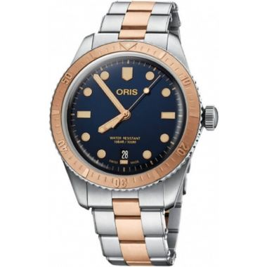 Oris Divers Sixty-Five Bronze Strap Watch 40mm