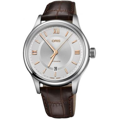 Oris Classic Date Leather Strap Watch 42mm