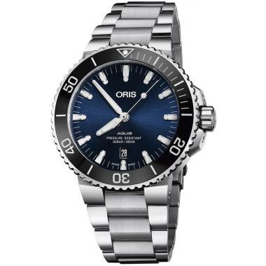 Oris Aquis Date Blue Dial Watch 43.5mm