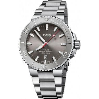 Oris Aquis Date Relief Grey Stainless Steel Watch 43.5mm