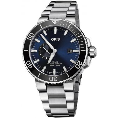 Oris Aqus Small Second, Date Blue Dial 45.5mm
