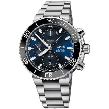 Oris Aquis Chronograph Blue Dial Watch 45.5mm