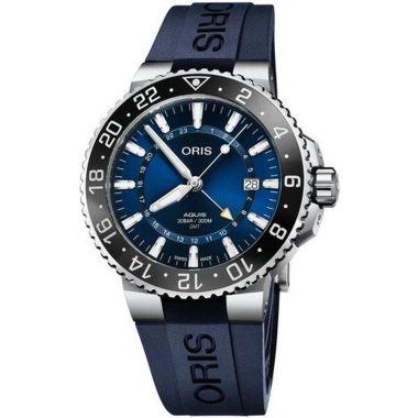 Oris Aquis GMT Date Blue Dial Watch 43.5mm