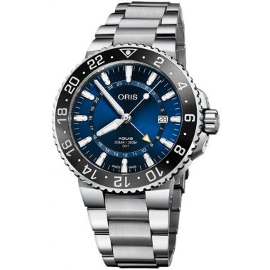 Oris Aquis GMT Date Blue Dial Watch 43.5mm