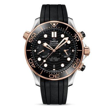 Omega Seamaster Diver 300m Master Chronometer Chronograph Black & Sedna 44mm