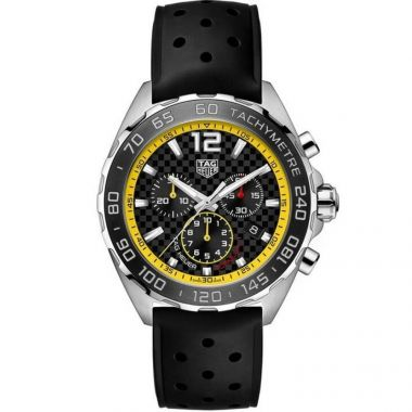 Tag Heuer Formula 1 Yellow & Black Rubber Strap 43mm