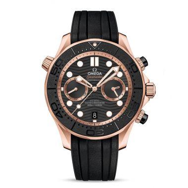 Omega Seamaster Diver 300m Master Chronometer Chronograph Sedna Gold 44mm