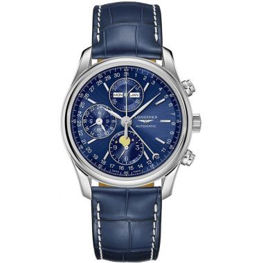 Longines Master Collection Chronograph Moonphase Blue 40mm
