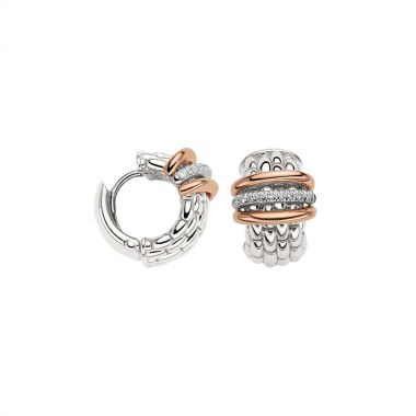 Fope Panorama Earrings with Diamonds