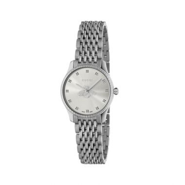 Gucci G-Timless Bee Motif Silver 29mm