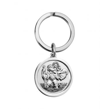 St Christopher Silver Key Ring