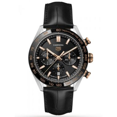 Tag Heuer Carrera Heuer 02 Automatic Chronograph Black & Rose 44mm