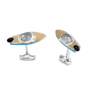 Deakin & Francis Sterling Silver Speed Boat Cufflinks
