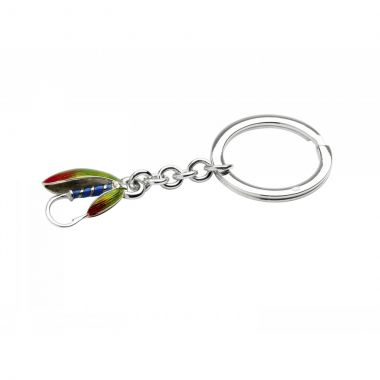 Deakin & Francis Sterling Silver Fly Fishing Keyring
