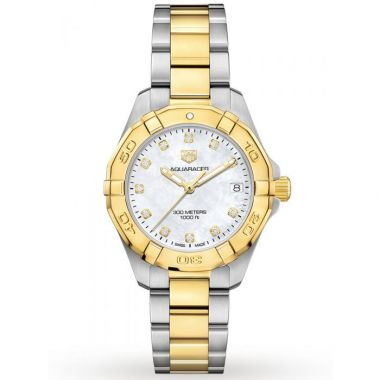 Tag Heuer Aquaracer Ladies Steel & Yellow Diamond Dial 32mm
