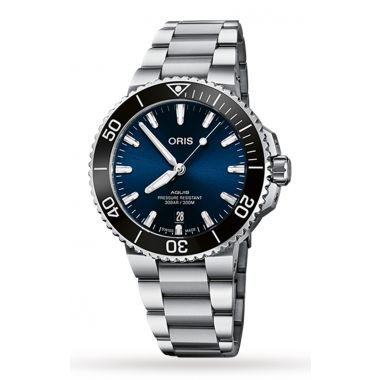Oris Aquis Date Blue Dial Watch 39.5mm