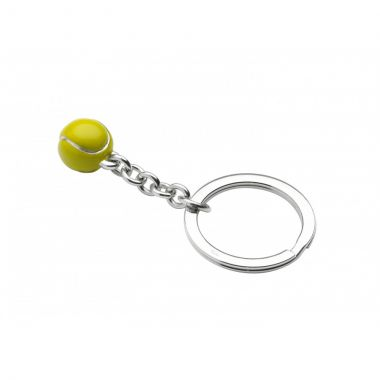 Deakin & Francis Sterling Silver Tennis Ball Keyring