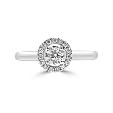 Diamond 0.52ct Halo Cluster 18ct Ring