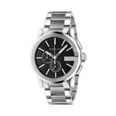 Gucci G-Chrono Mens Bracelet Watch Black Dial 44mm