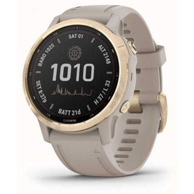 Garmin Watch Fenix 6S Pro Solar Light Gold With Light Sand Band